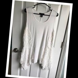 White Sleeveless Tunic Top